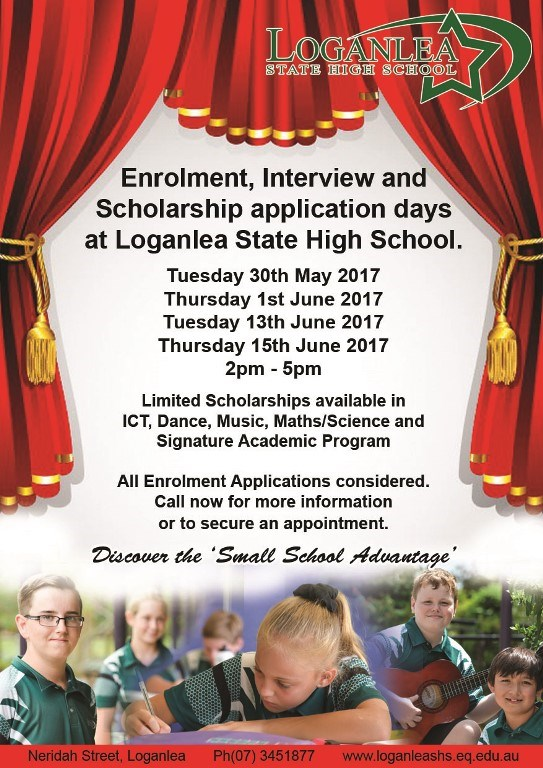 Enrolment, Interview and Scholarship Application Days